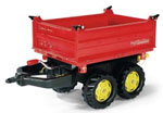 Container Rolly Toys Rolly Mega Trailer rosso