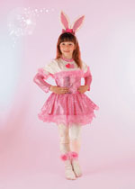 Costume Carnevale Coniglietta Rosa 7/8 anni Fancy Magic