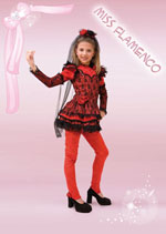 Costume Carnevale Miss Flamenco 9/10 anni Fancy Magic