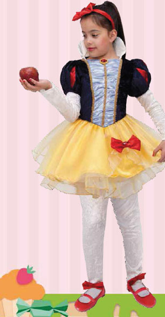 Costume Carnevale Biancaneve 3/4 anni Fancy Magic