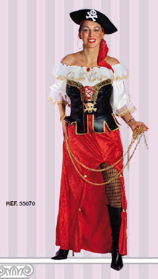 Costume Carnevale Corsara Taglia L (48/50) Fancy Magic
