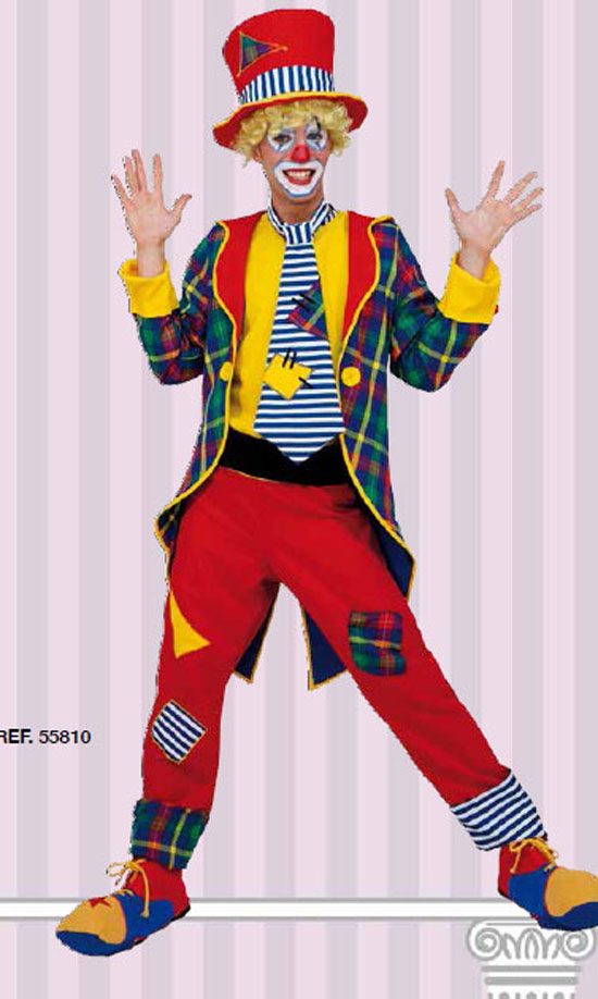 Costume Carnevale Elegant Clown Taglia L (48/50) Fancy Magic