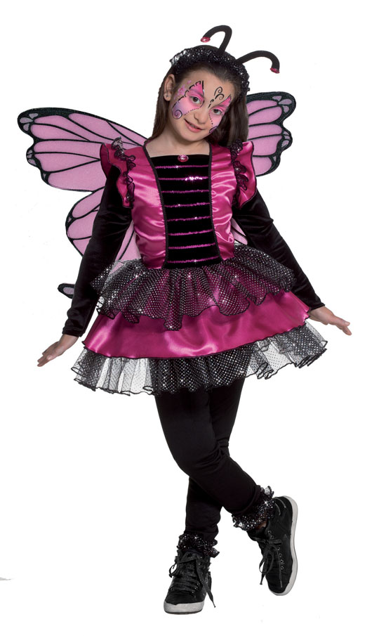 Costume Carnevale Butterfly 3/4 anni Fancy Magic