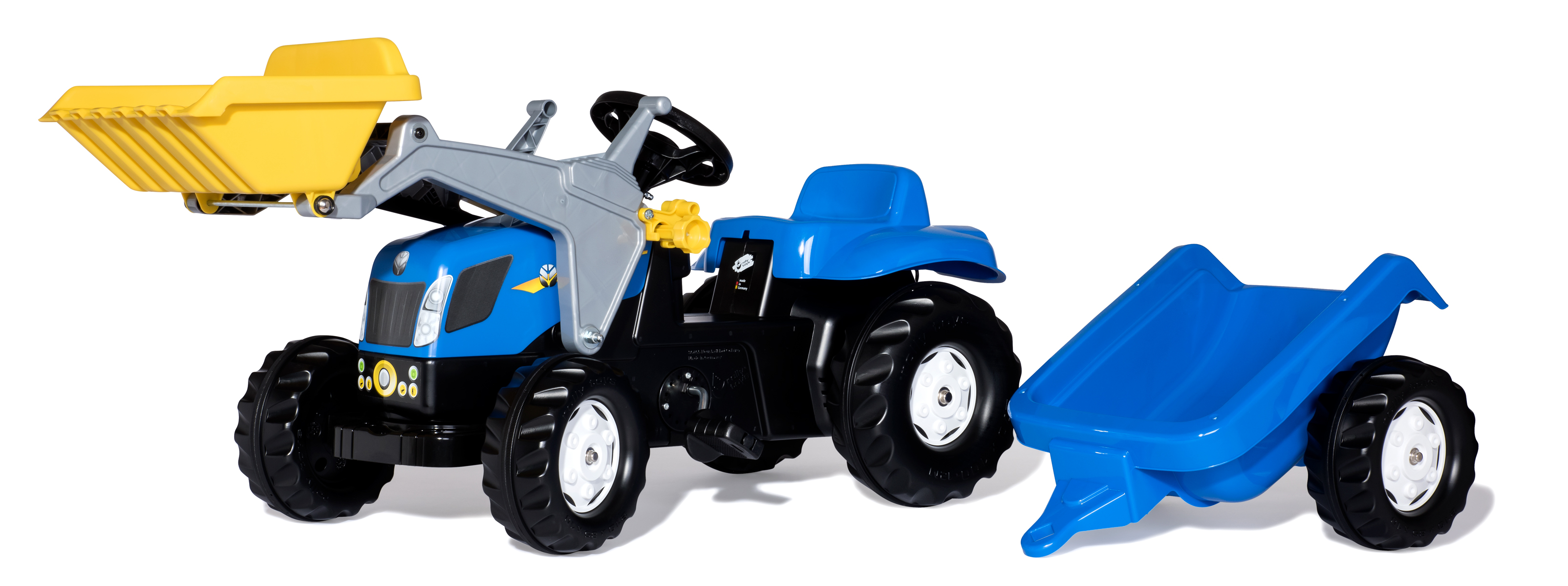 Trattore a pedali RollyKid New Holland con benna Rolly Toys