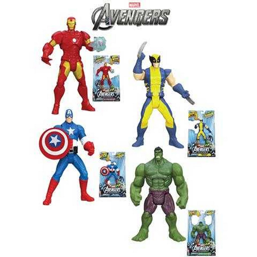 Hasbro The Avengers Action Figure Combattimento Assortite