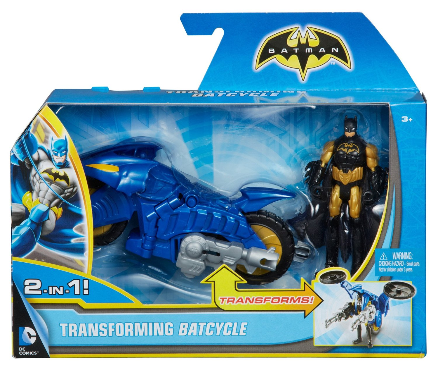 Action Figure Batman 10 Cm Con Veicolo 2 In 1