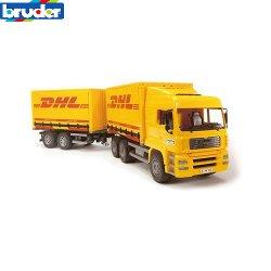 camion man dhl con rimorchio bruder 2784