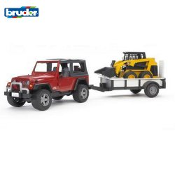Jeep Wrangler Unlimited con Rimorchio e Cat Bruder