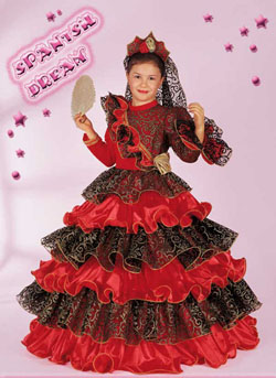 Costume Carnevale Spanish Dream 9 10 Anni Fancy Magic