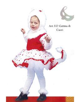 Acquista autentico nuovi prodotti per colore attraente Costume Carnevale Gattina di cuori A.De Rita 3/4 Anni [552 ...