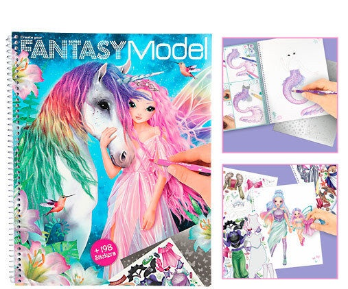 Album Fantasy model unicorno