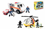 Ambulanza ed elicottero Imaginext Fisher Price